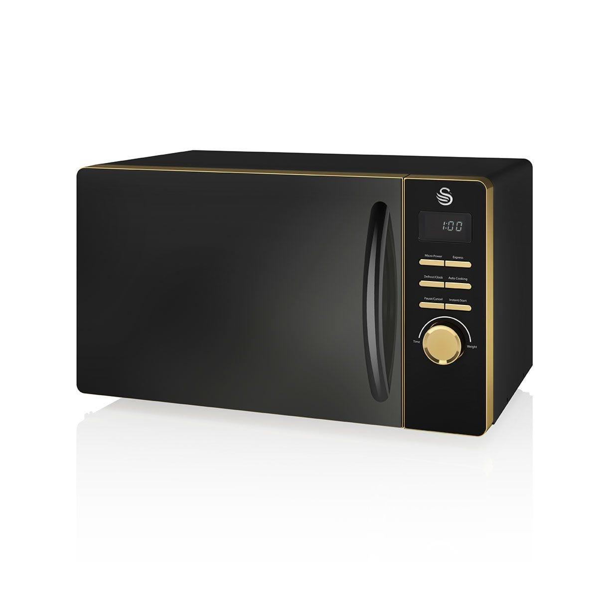 Swan SM22045BLKN Gatsby 800W Digital Microwave - Black