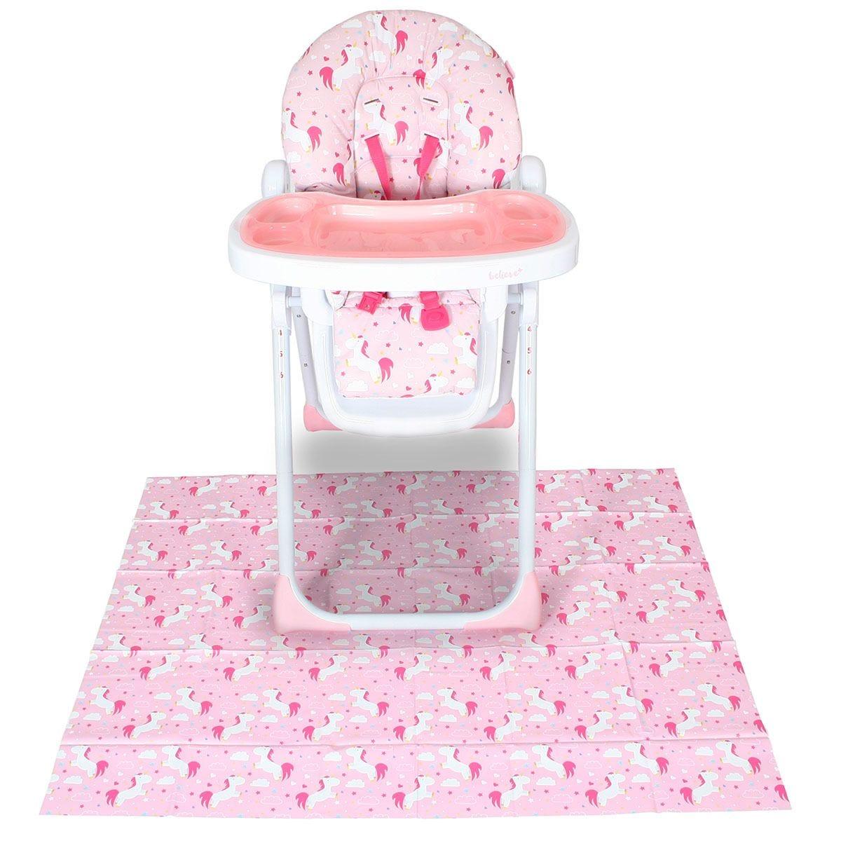 My Babiie Highchair Splash Mat - Pink Unicorns