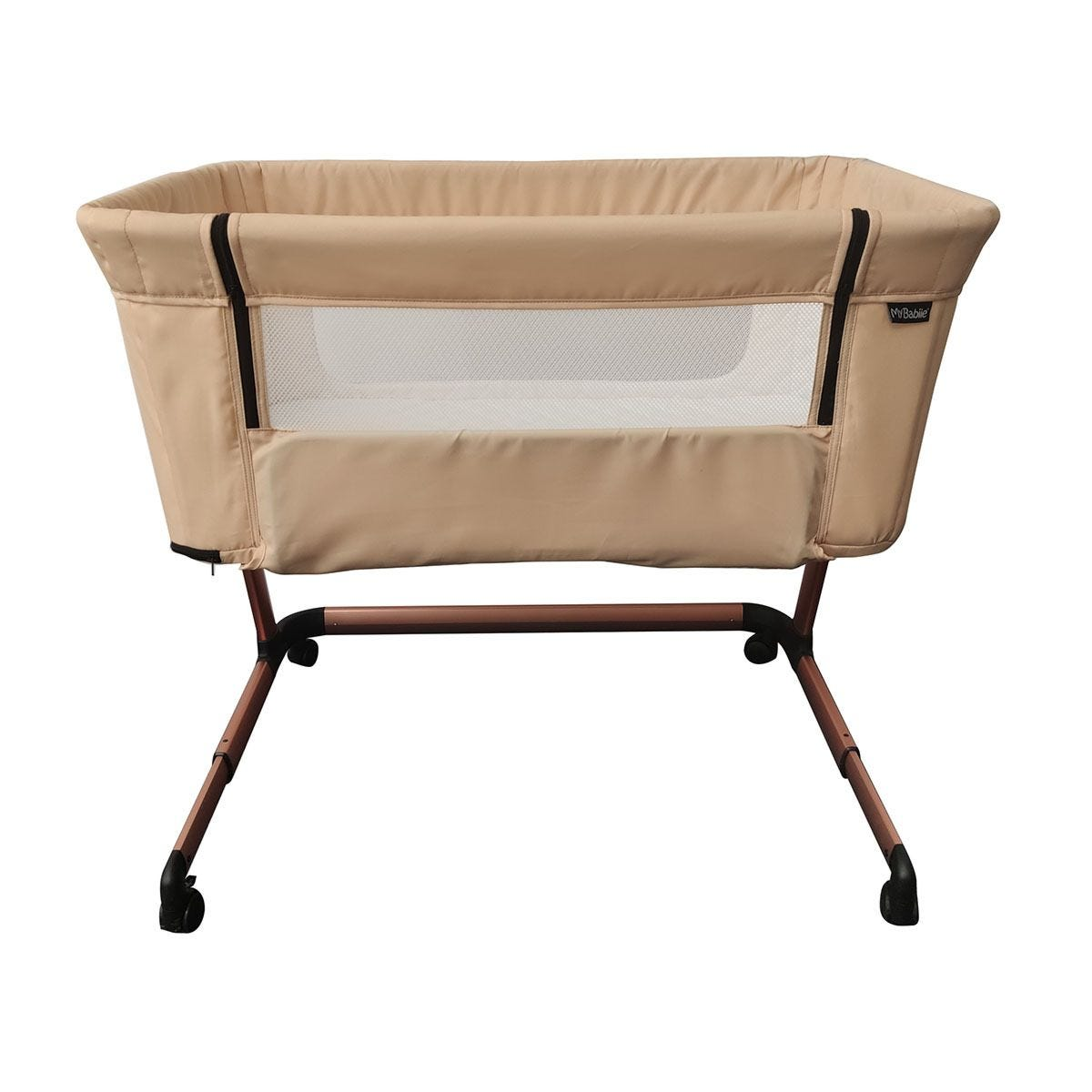 My Babiie Closer Bedside Crib - Rose Gold Blush