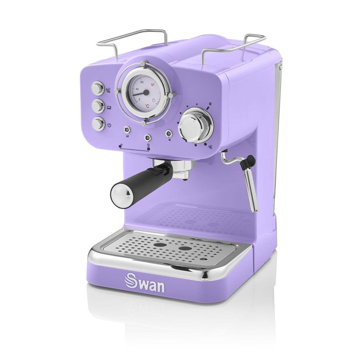 Swan SK22110PURN Pump Espresso Coffee Machine - Purple