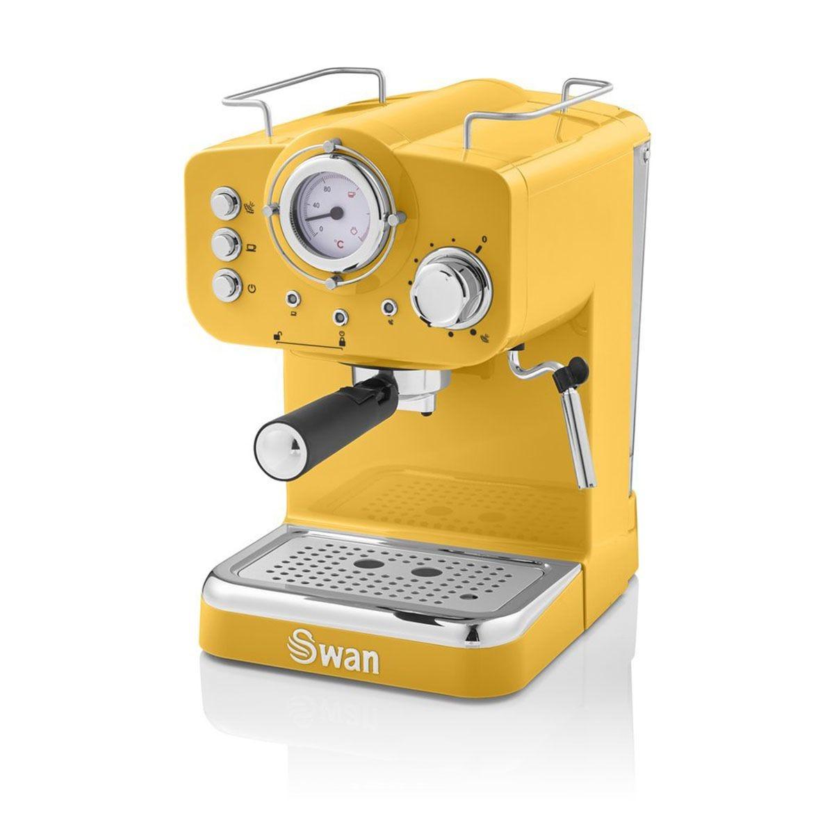 Swan SK22110YELN Pump Espresso Coffee Machine - Yellow