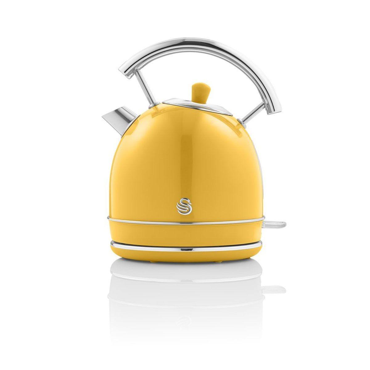 Swan SK14630YELN 1.8L 3000W Dome Kettle - Yellow