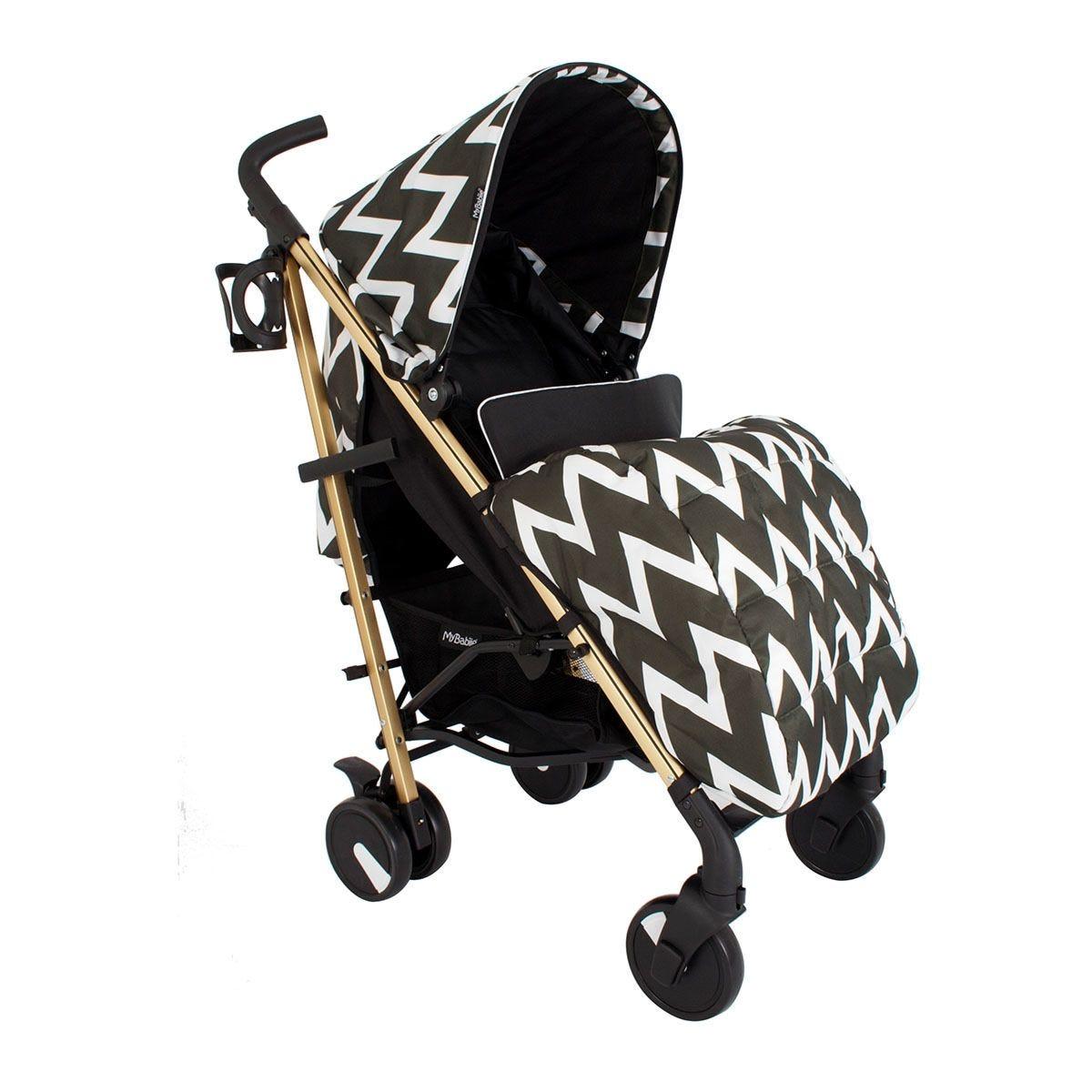My Babiie MB51 Gold Edition Chevron Stroller - Black