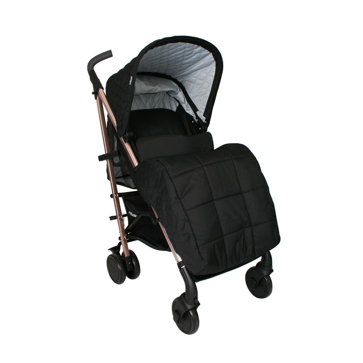 My Babiie Billie Faiers MB51 Rose Gold Black Quilted Stroller