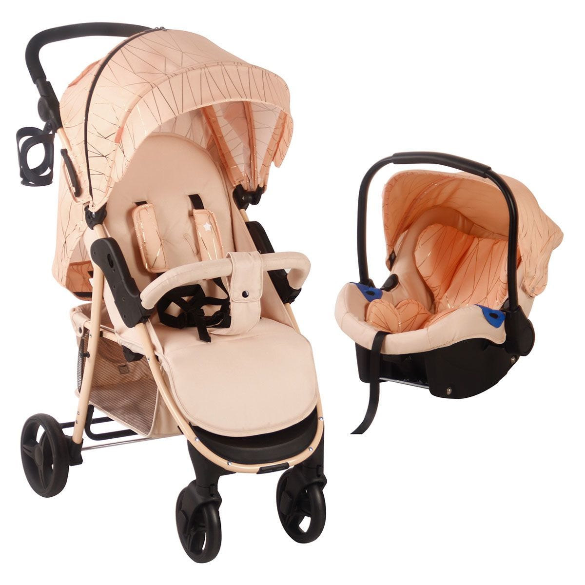 My Babiie MB30 Pushchair and Car Seat - Rose Gold Blush