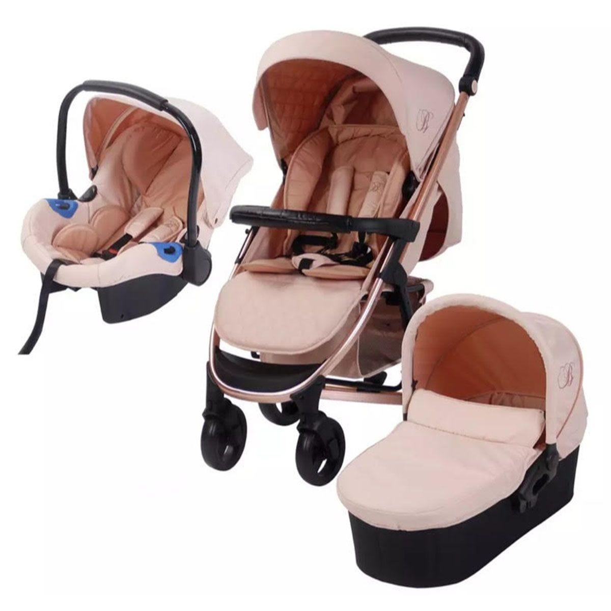 My Babiie Billie Faiers MB200 Travel System - Rose Gold and Blush