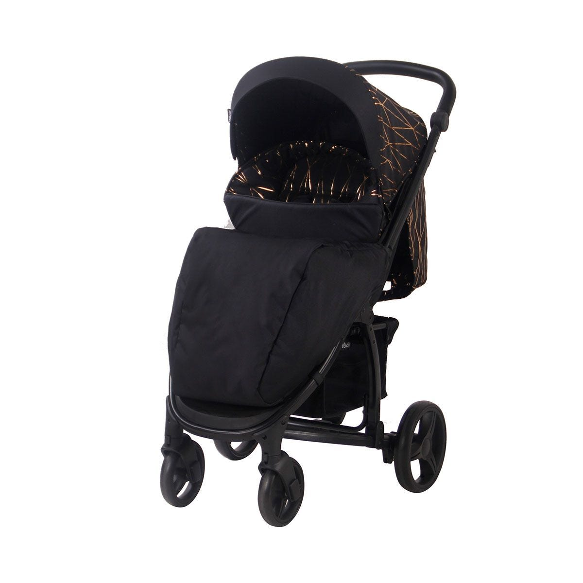 My Babiie MB200 Travel System - Black and Rose Gold