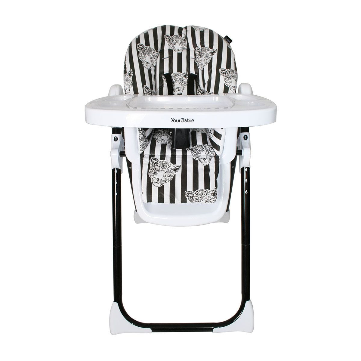 My Babiie Mono Leopard Highchair - Black