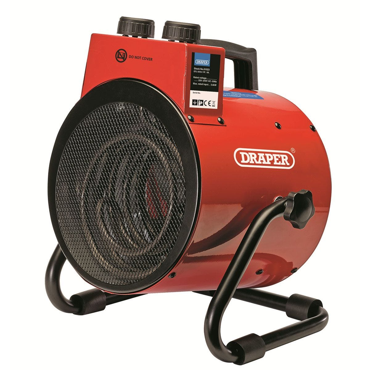 Draper Electric Space Heater 2.8KW - Red