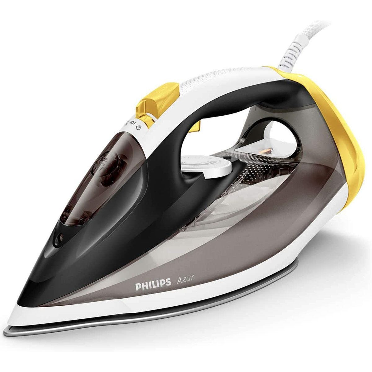 Philips GC4537/86 Azur 2400W Steam Iron - Black/Yellow/White
