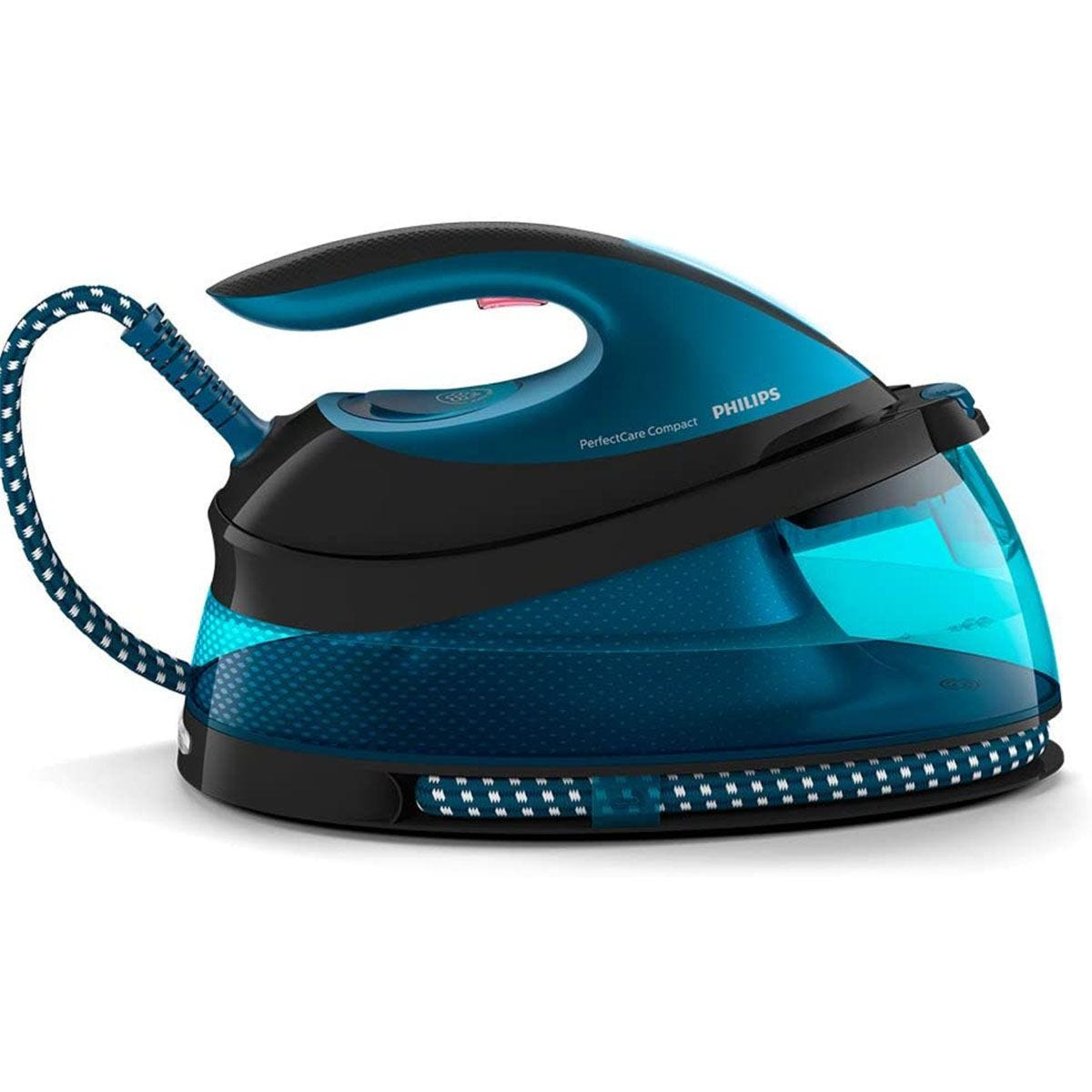Philips GC7846/86 PerfectCare 2400W Compact Steam Generator Iron - Black & Teal