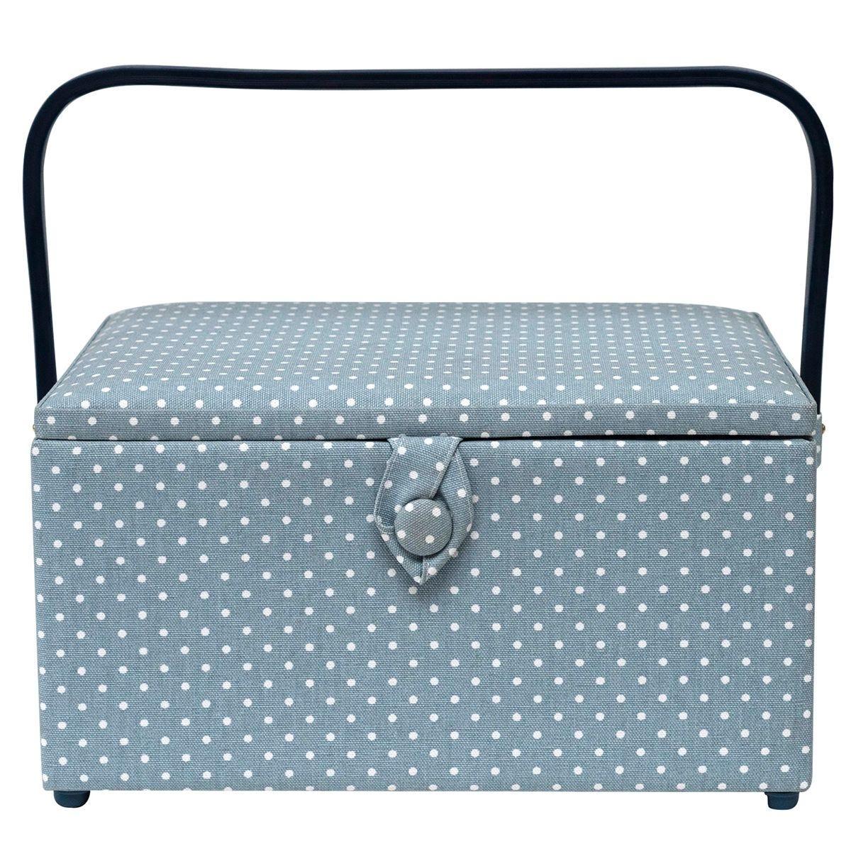 Korbond Tiny Dots Large Sewing Basket