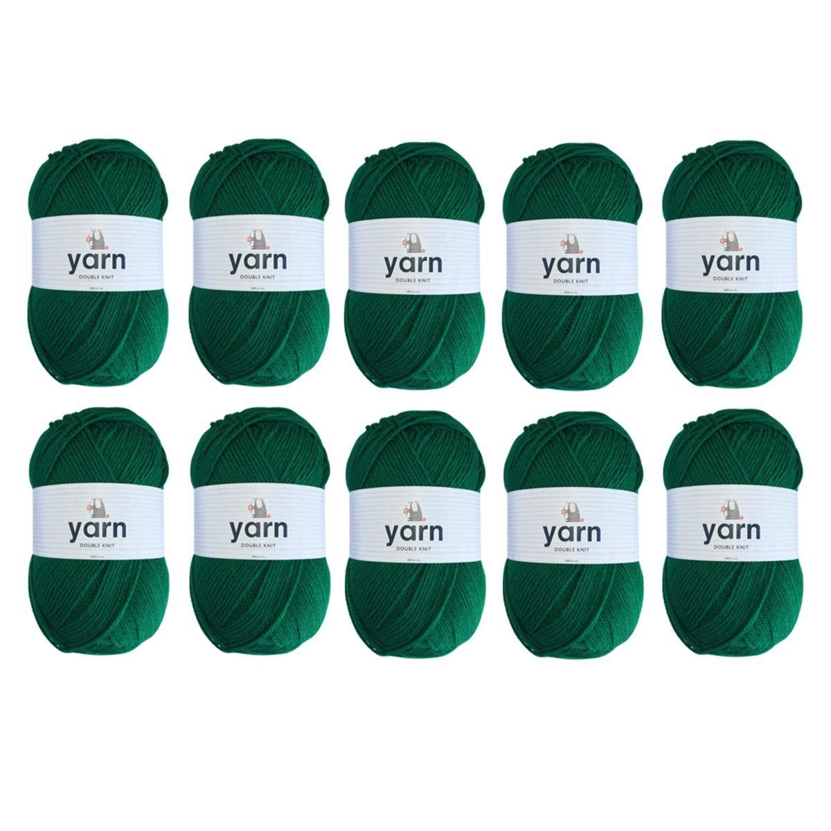 Korbond Emerald Double Knit Yarn Bulk Pack Bundle - 10 x 100g