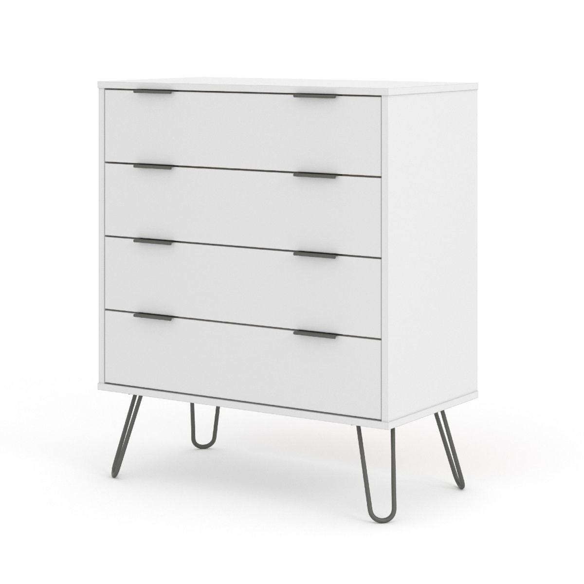 Augusta 4 Drawer Chest Of Drawers White