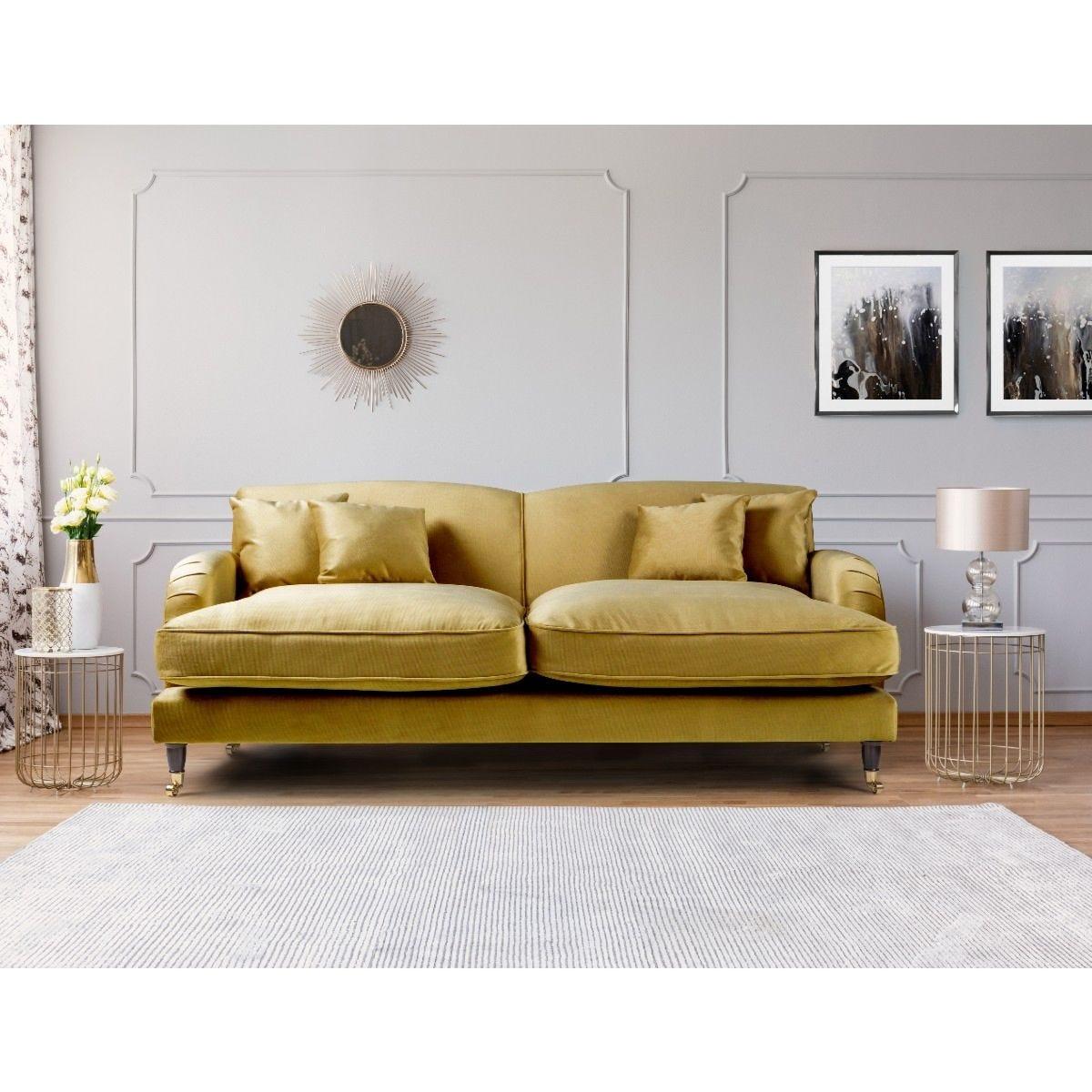 Oxford 3 Seater Sofa Malta Gold