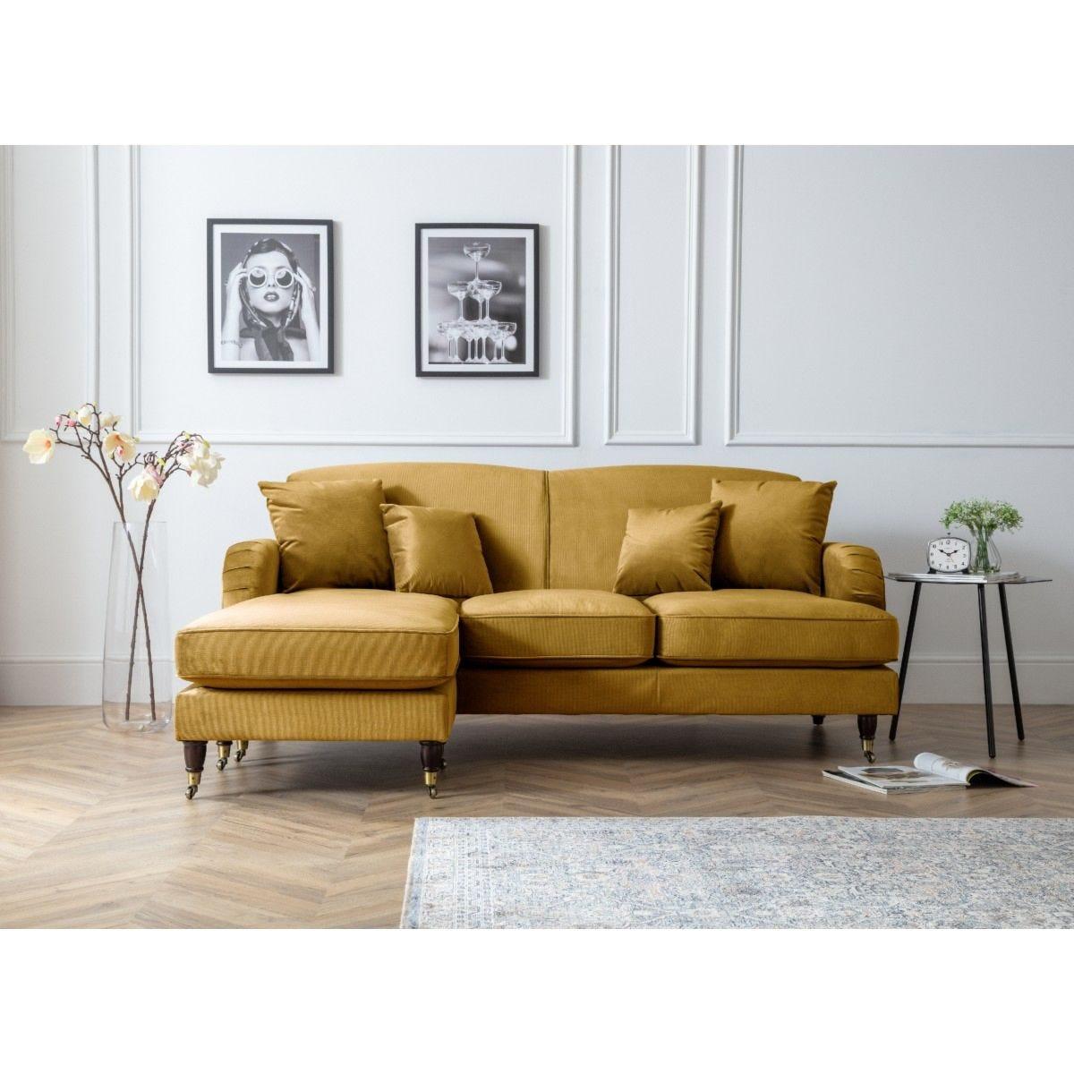 Oxford Corner Chaise Sofa Malta Gold