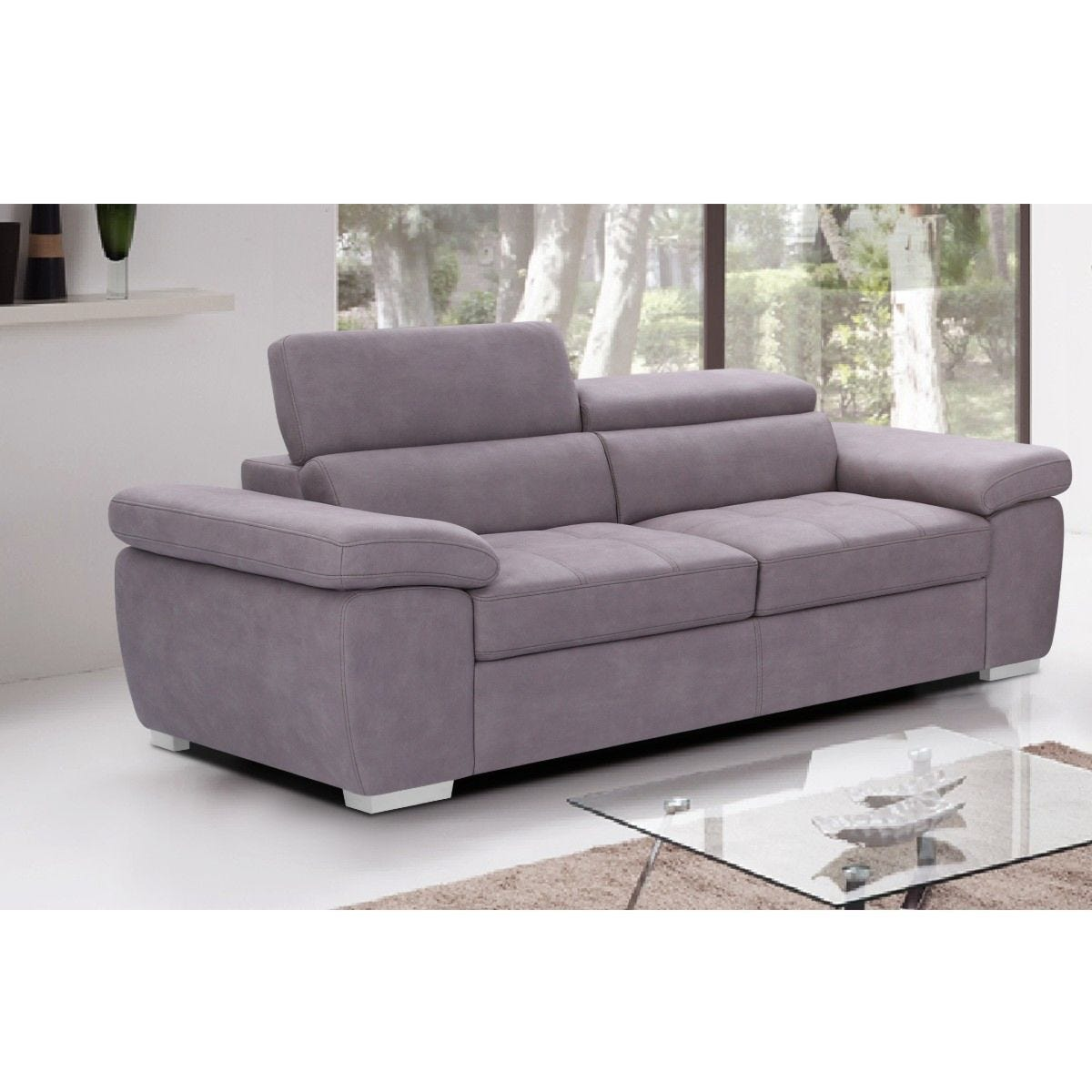 Alton 3 Seater Faux Suede Sofa Mushroom Grey