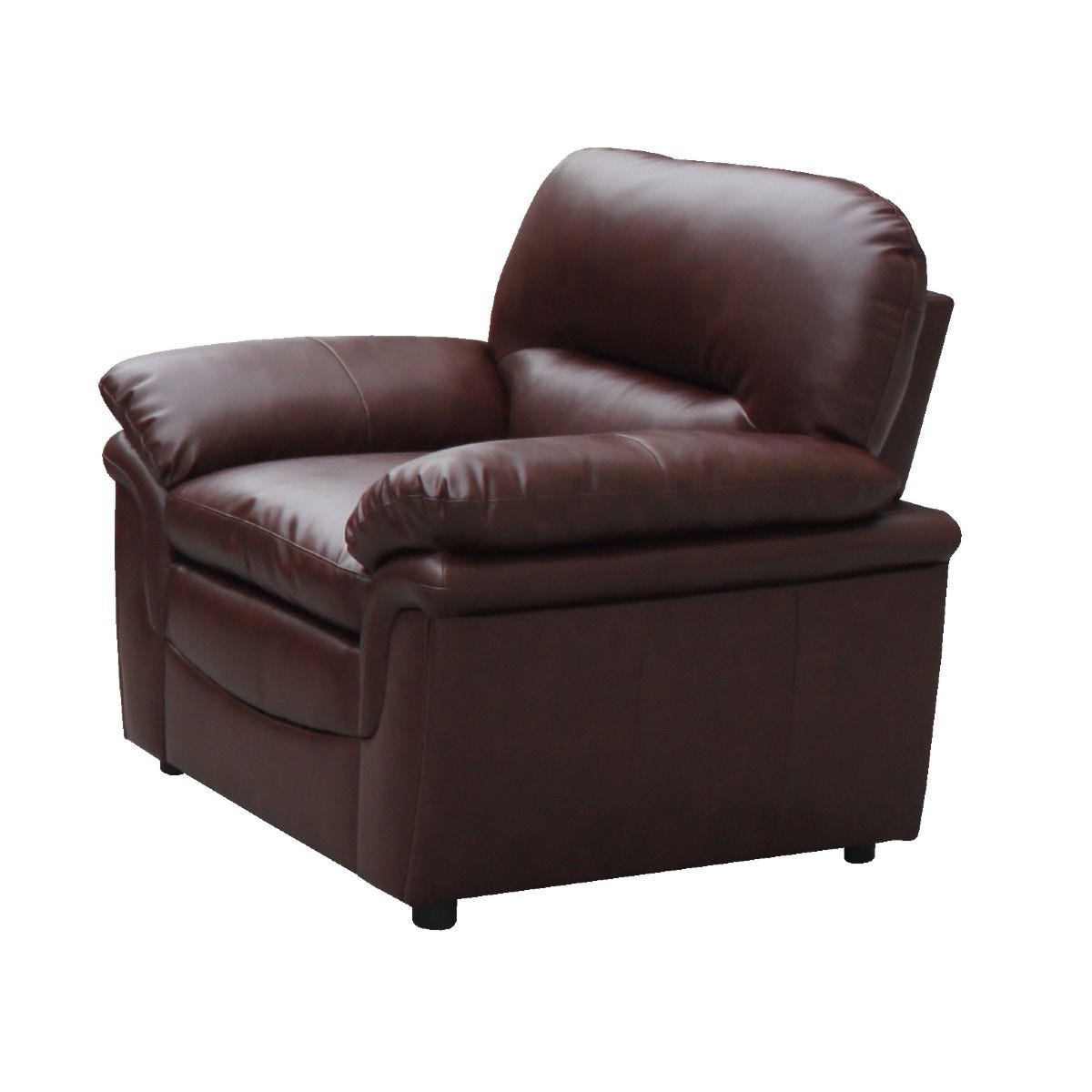 Filton Bonded Faux Leather Armchair Brown