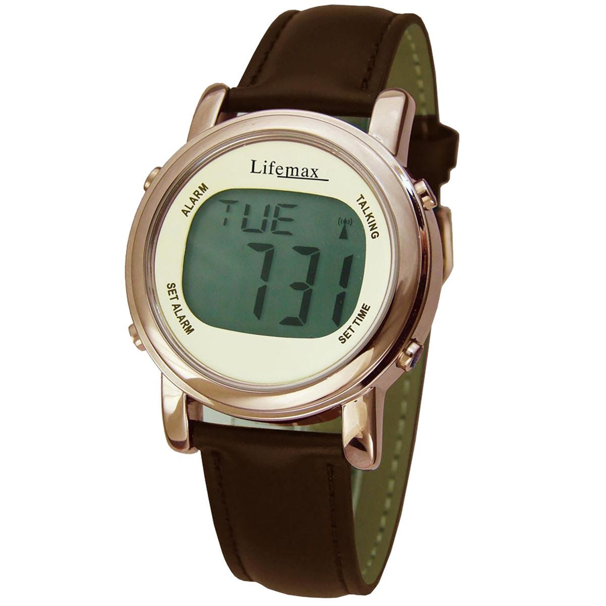 Lifemax Digital Chic Atomic Talking Watch - Copper/Brown