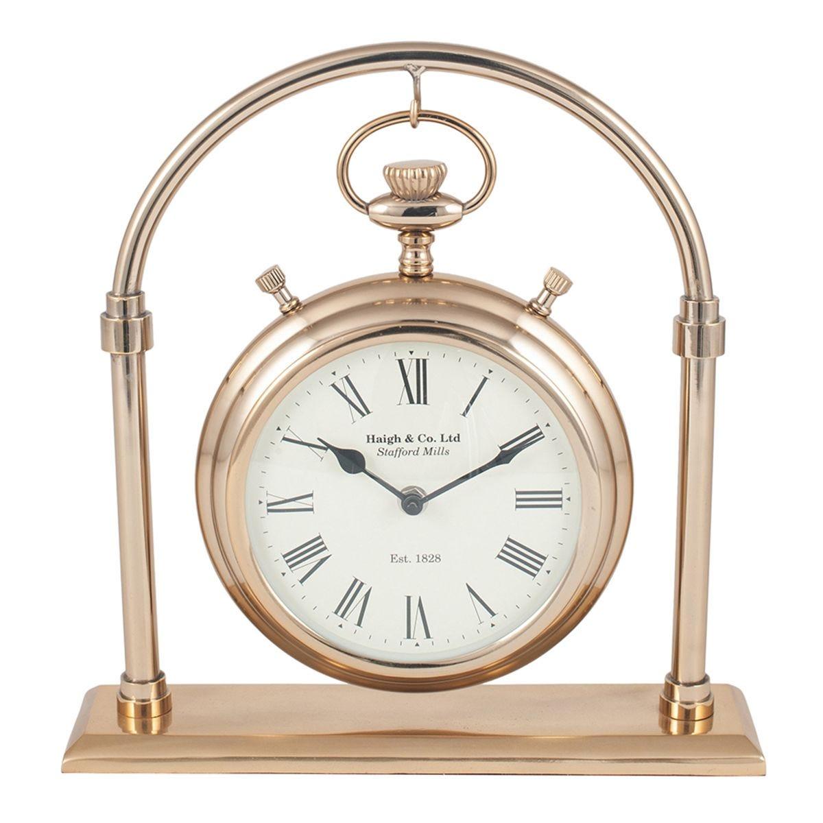 Celestial Antique Brass & Glass Carriage Clock