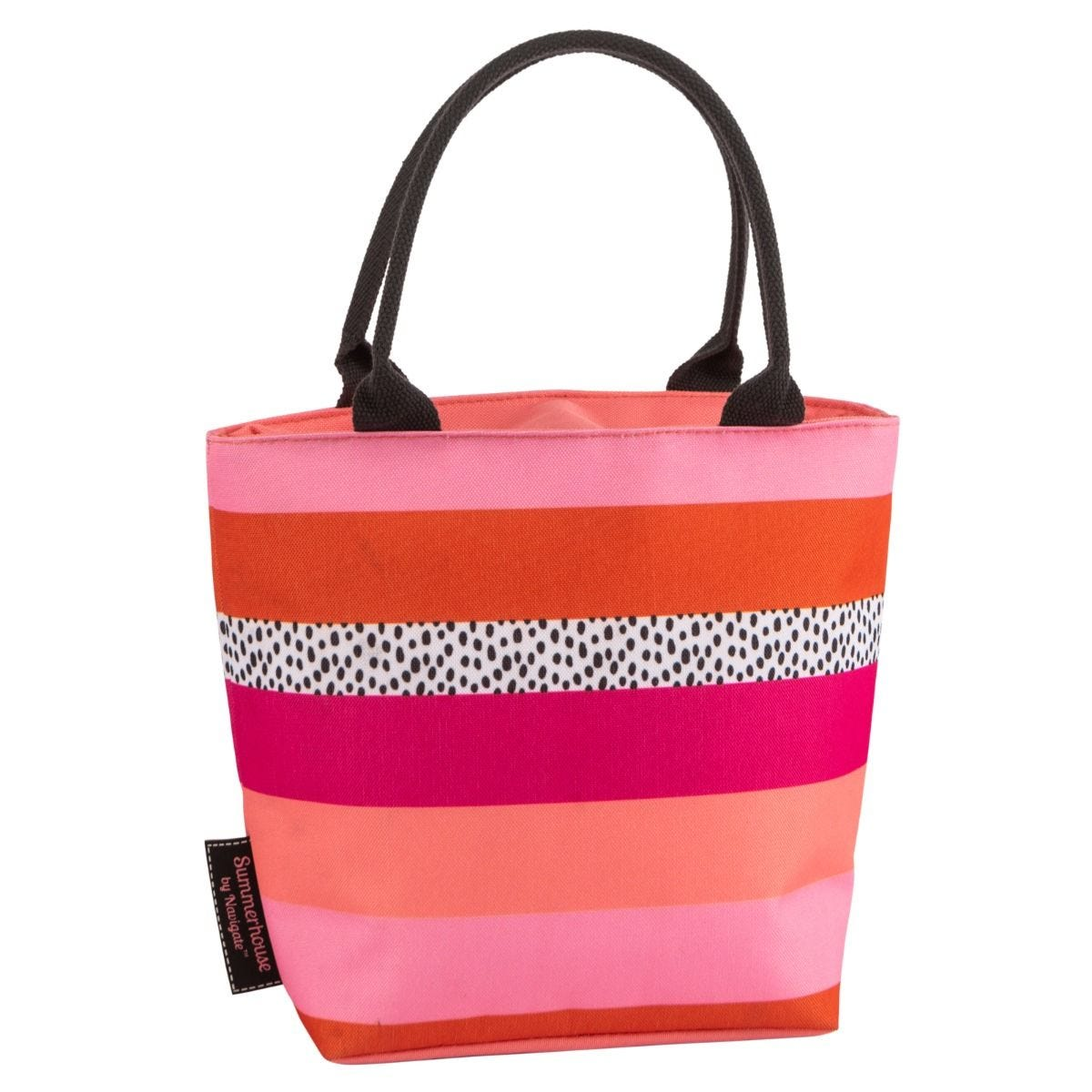 Summerhouse Tribal Fusion Stripe Insulated Lunch Tote Bag