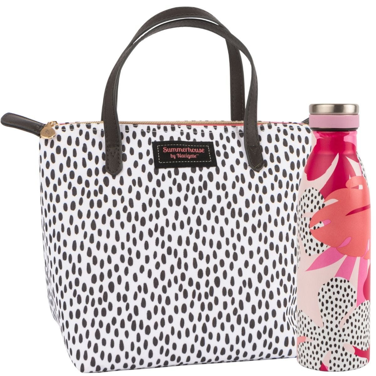 Summerhouse Tribal Fusion Spot Lunch Tote Bag & Drinks Bottle