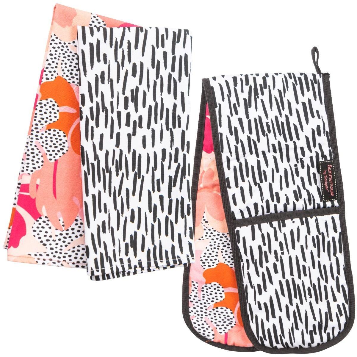 Summerhouse Tribal Fusion Oven Gloves & Set of 2 Tea Towels