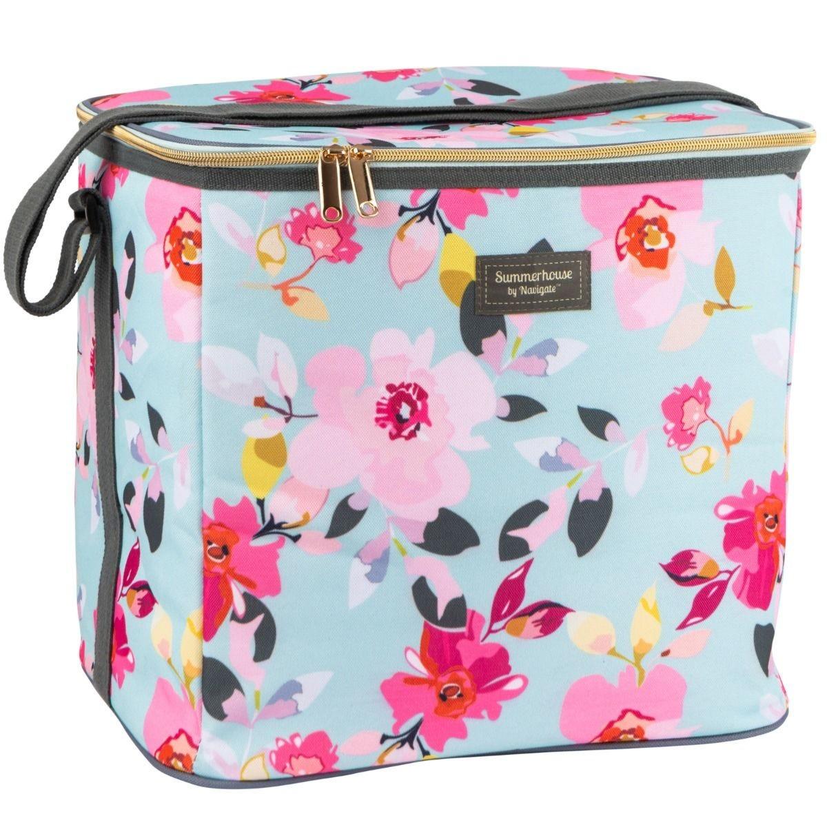 Summerhouse Gardenia Floral 20L Family Cool Bag - Sky Blue