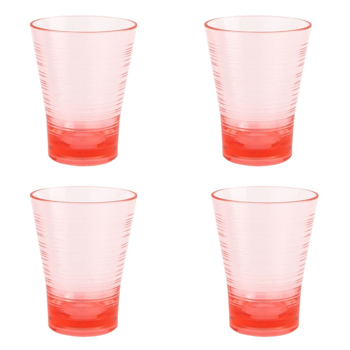 Summerhouse Set of 4 Plastic Tumblers - Candy Pink