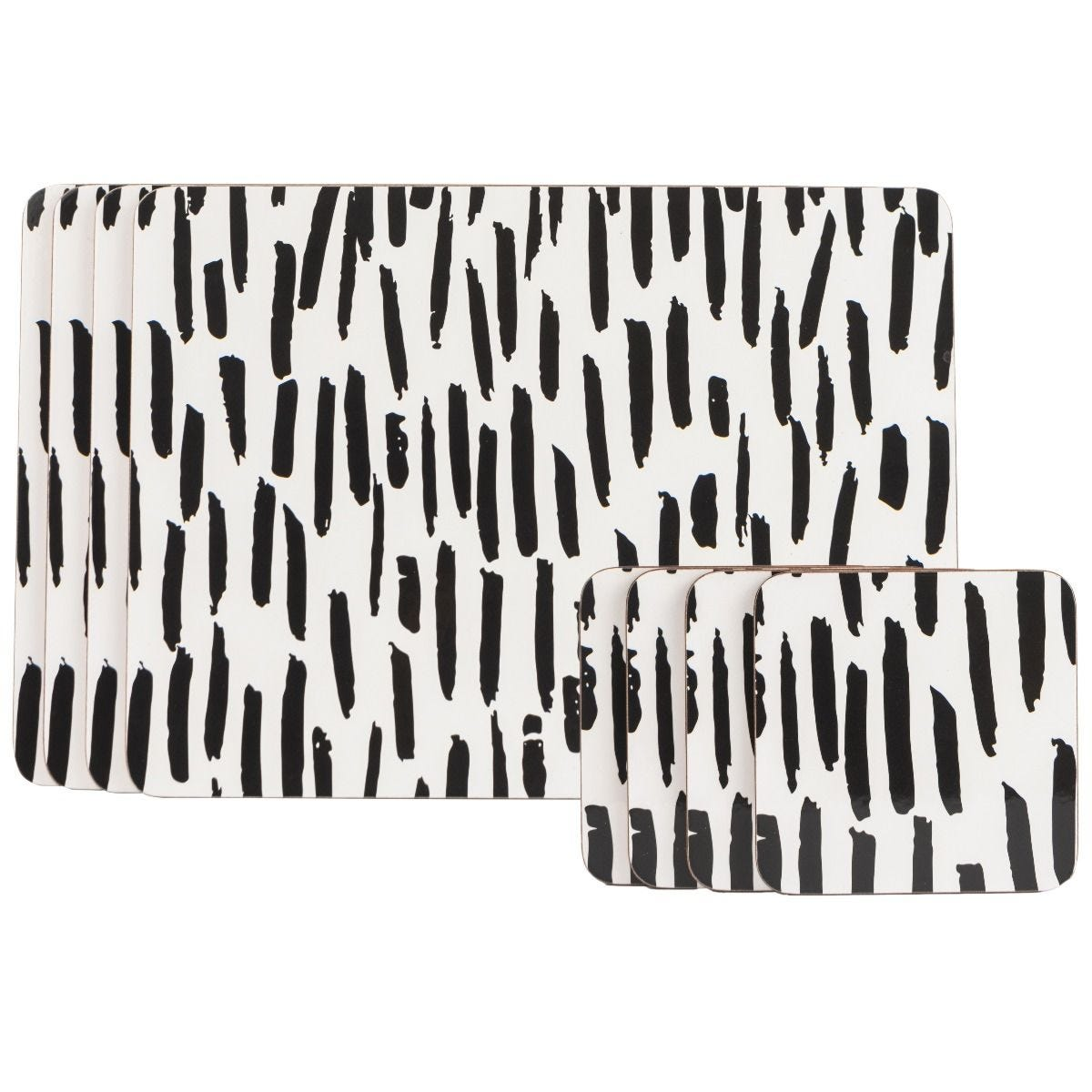 Summerhouse Tribal Fusion Dash Set of 4 Placemats & 4 Coasters