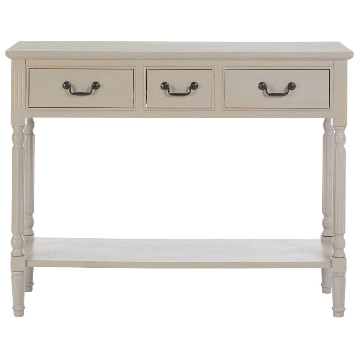 Heritage Console Table Rectangular / 3 Drawers Vintage Grey