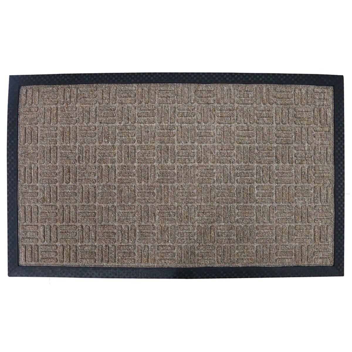 Home Essentials 45 x 75cm Tread Rubber Doormat - Beige