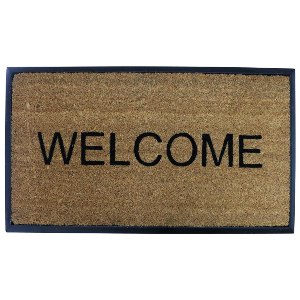 Pride of Place 40 x 70cm Coir Heavy Duty Welcome Doormat - Natural