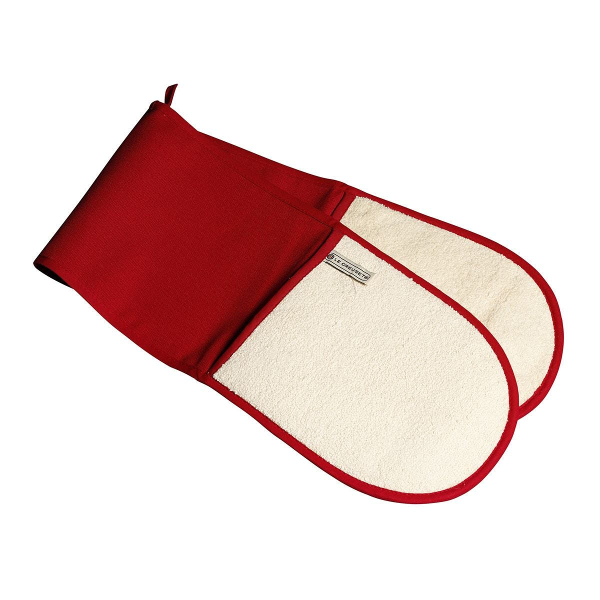 Le Creuset Double Oven Glove Red