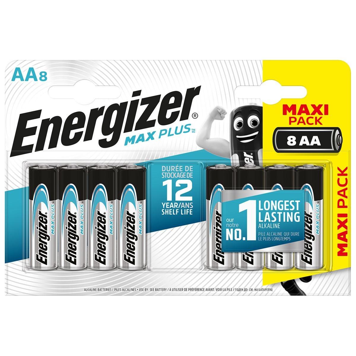 Energizer Max Plus AA Batteries 8 Pack
