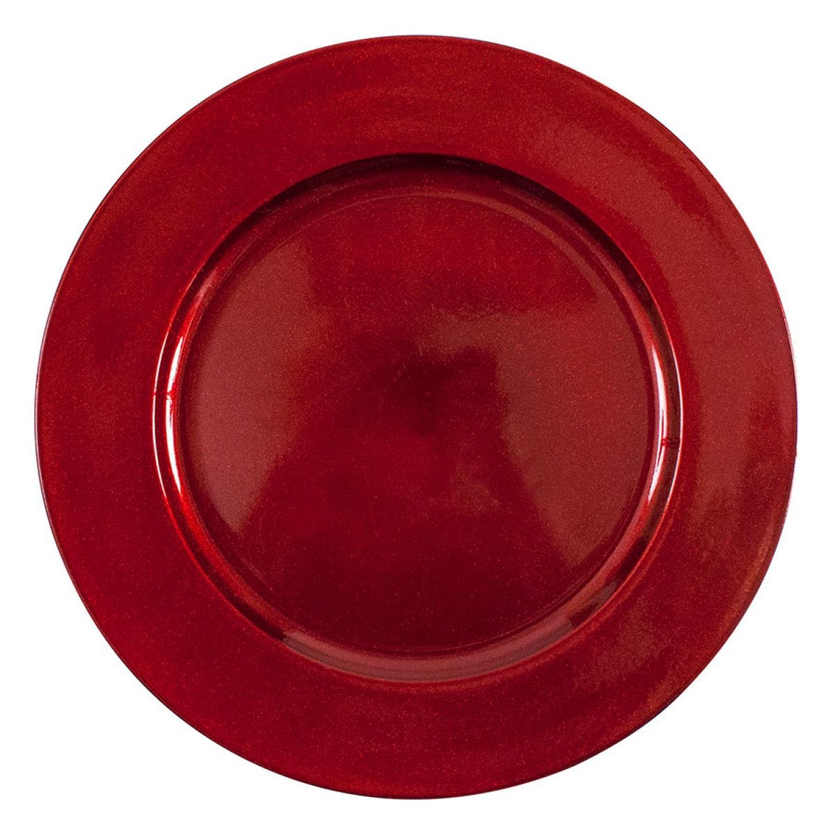 Charger Plate - Red