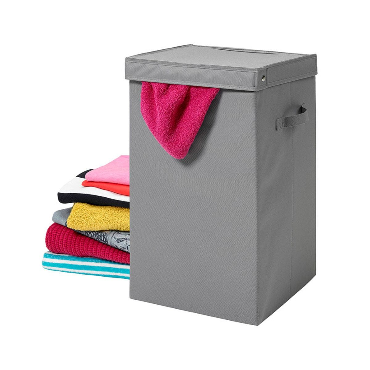 H&L Russel Heavy Duty Laundry Box with Lid - Grey