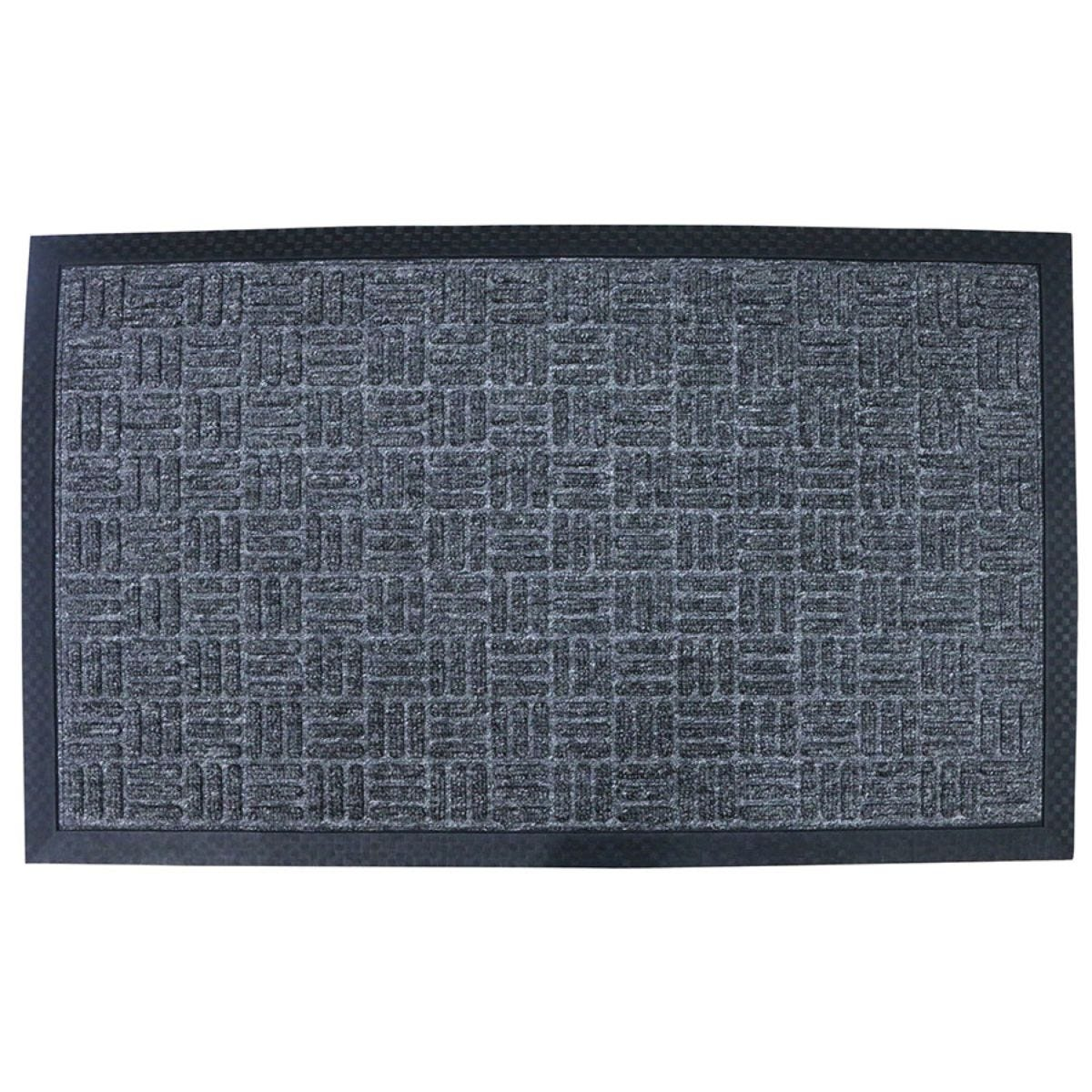 Home Essentials 45 x 75cm Tread Rubber Doormat - Grey