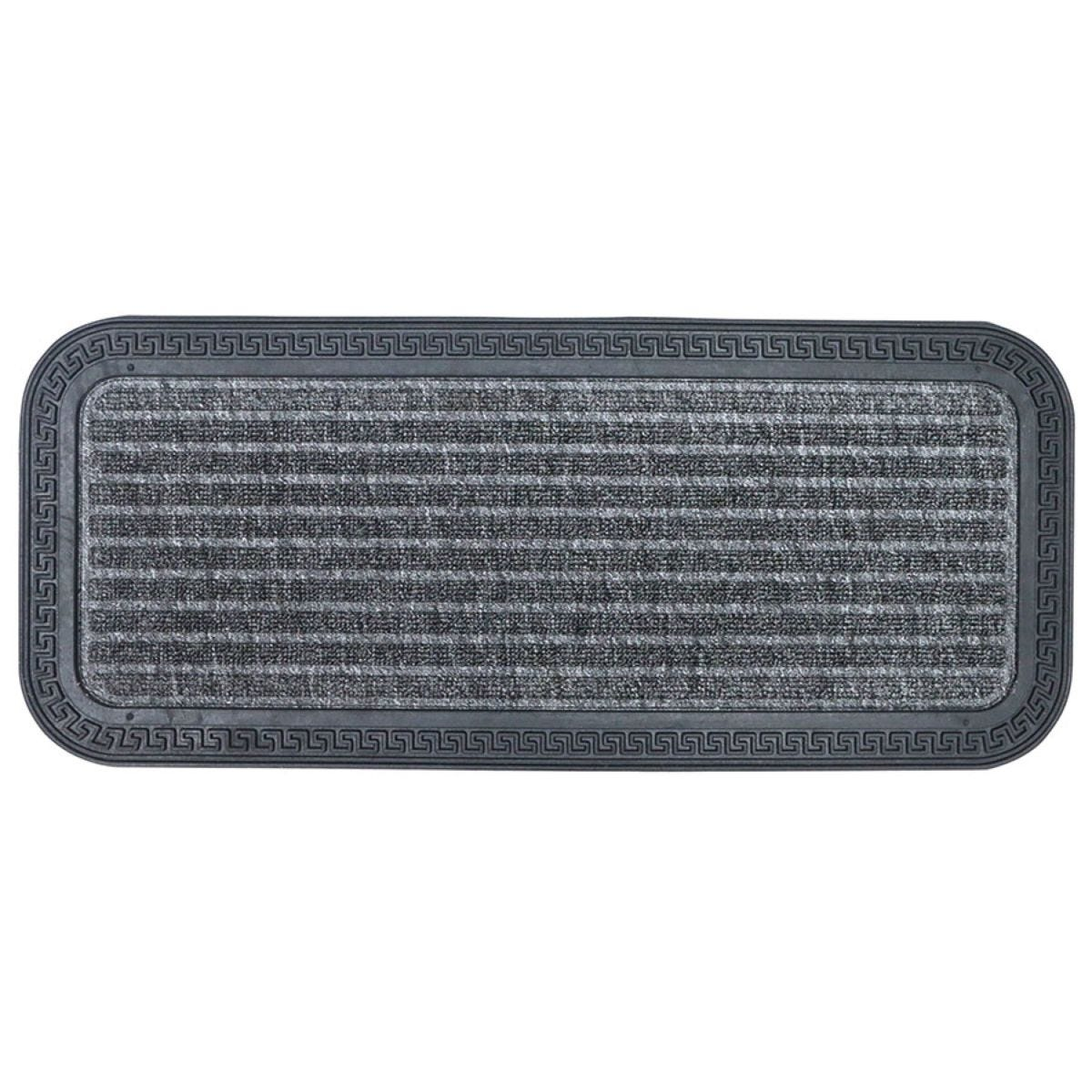 Home Essentials 25 x 60cm Rubber Boot Mat - Grey