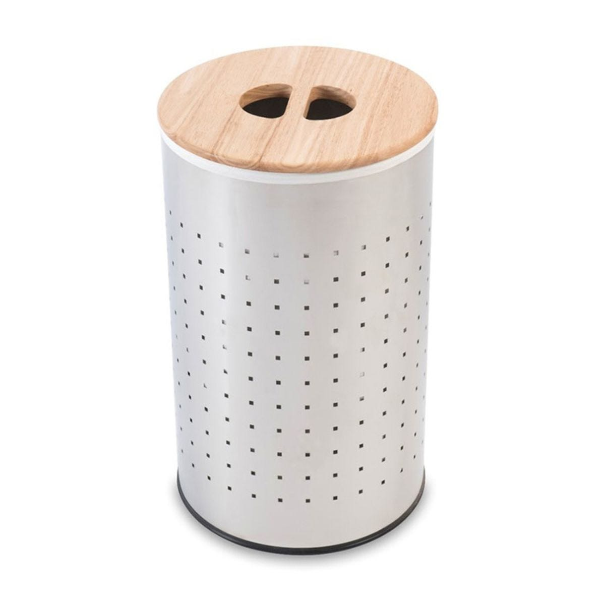 Sabichi Stainless Steel Laundry Bin - Silver