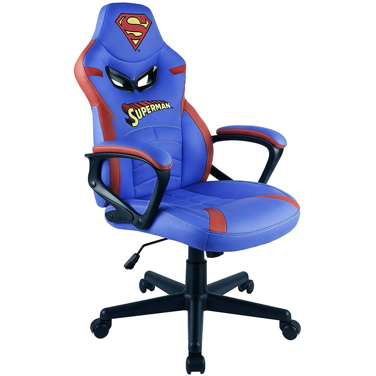 Subsonic Superman Junior Gamer Chair - Blue/Red