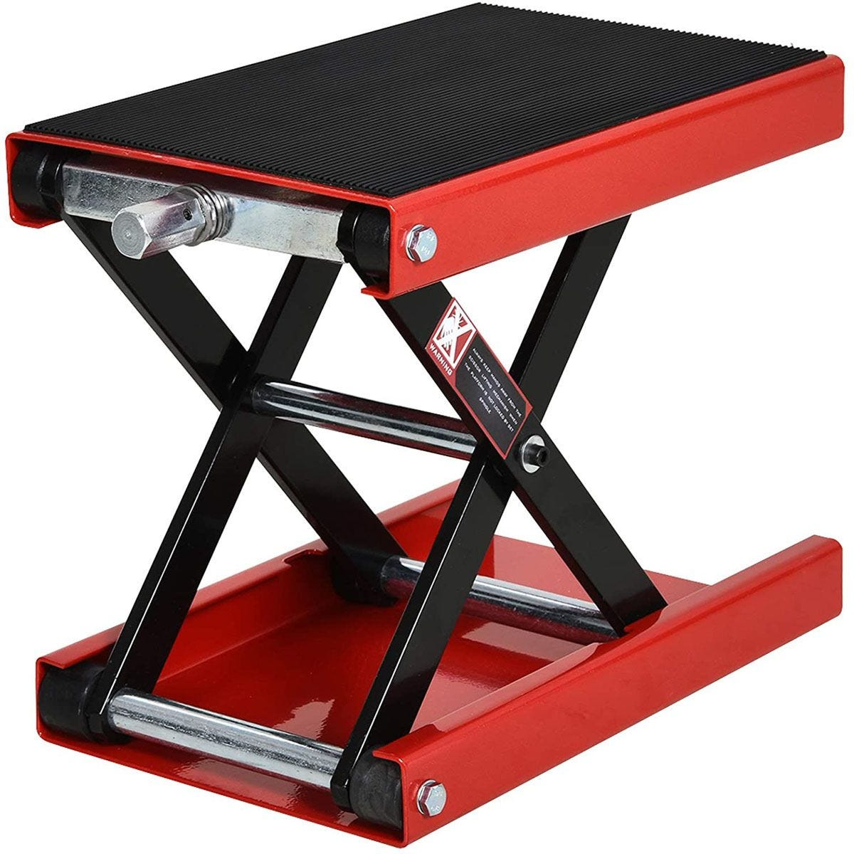 Durhand Steel Manual Repair Motorcycle Lift Platform - Red
