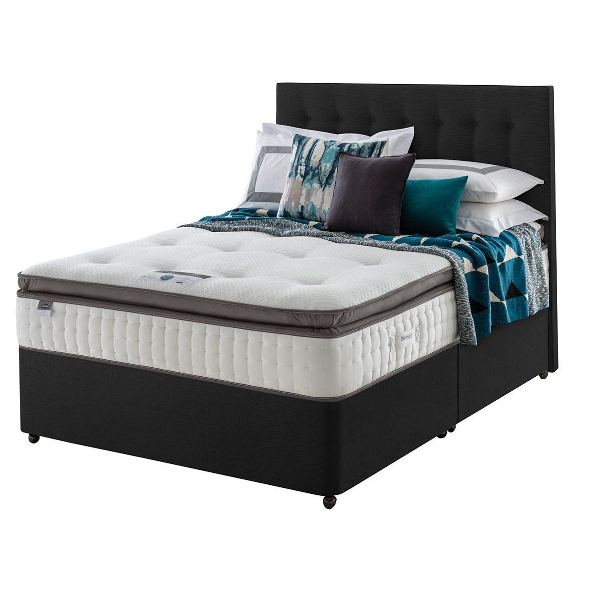 Silentnight Mirapocket Geltex 1000 Divan Bed - Ebony