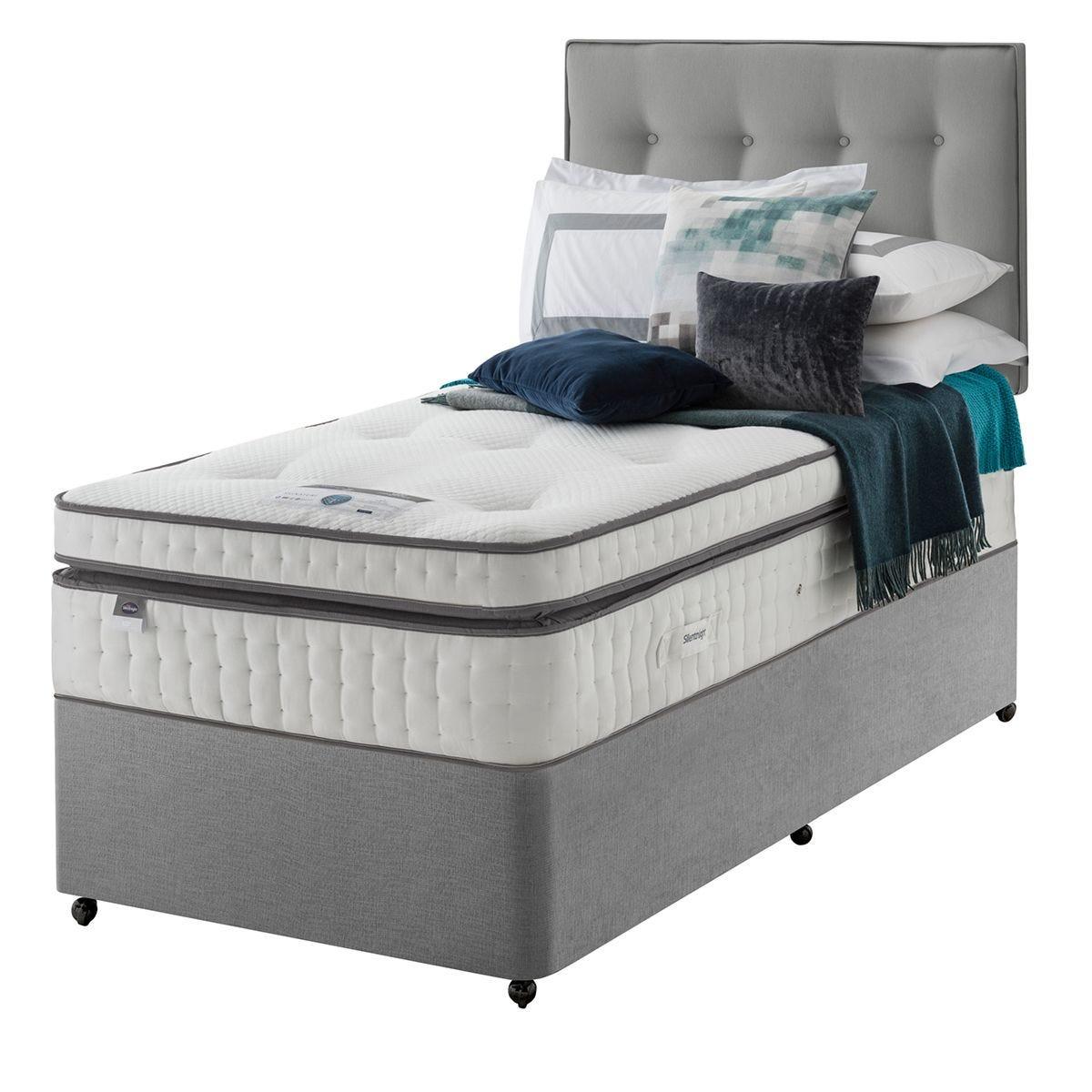 Silentnight Mirapocket Geltex 2000 Divan Bed - Grey