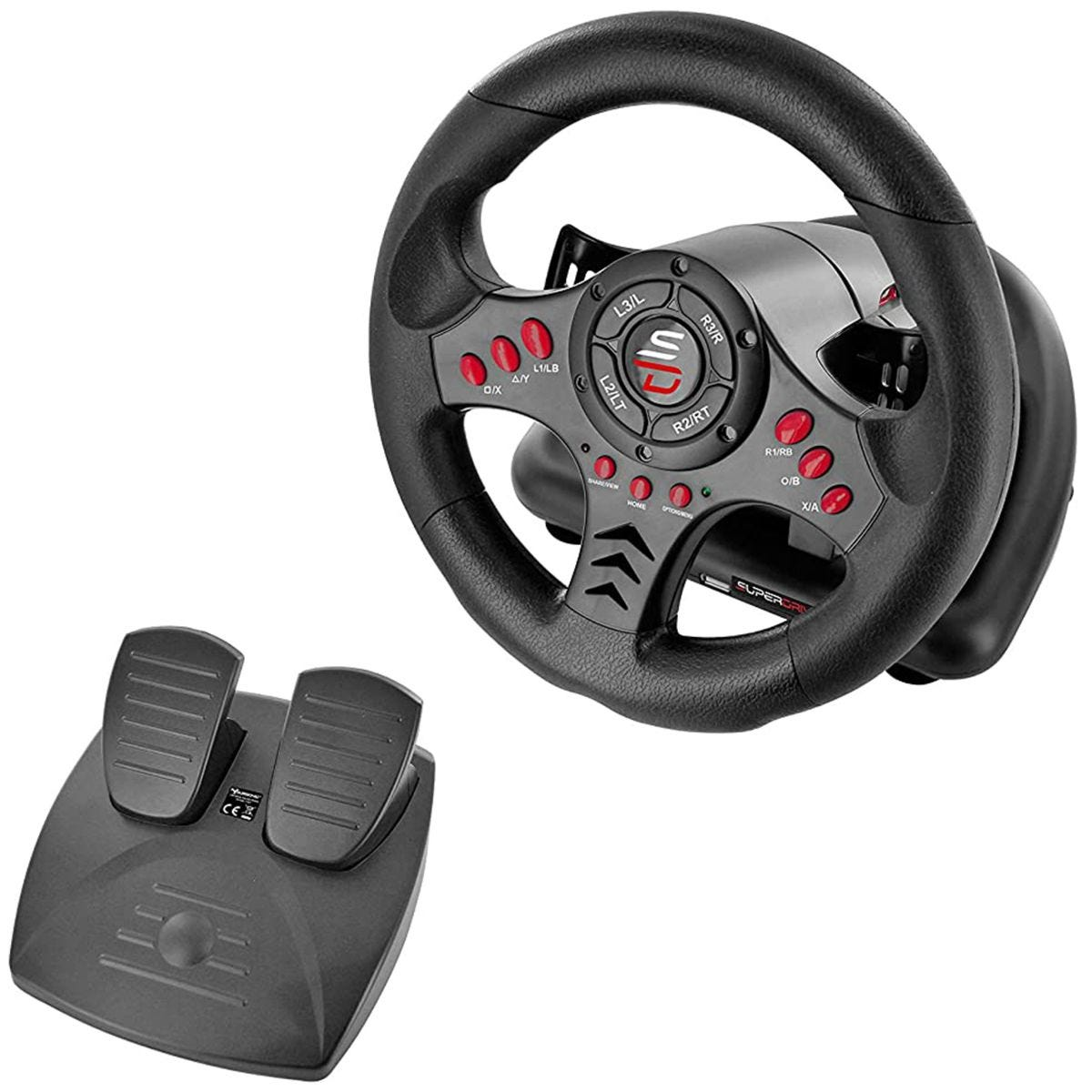 Superdrive SV400 Racing Wheel For PS4, Xbox One, PC & PS3 - Black
