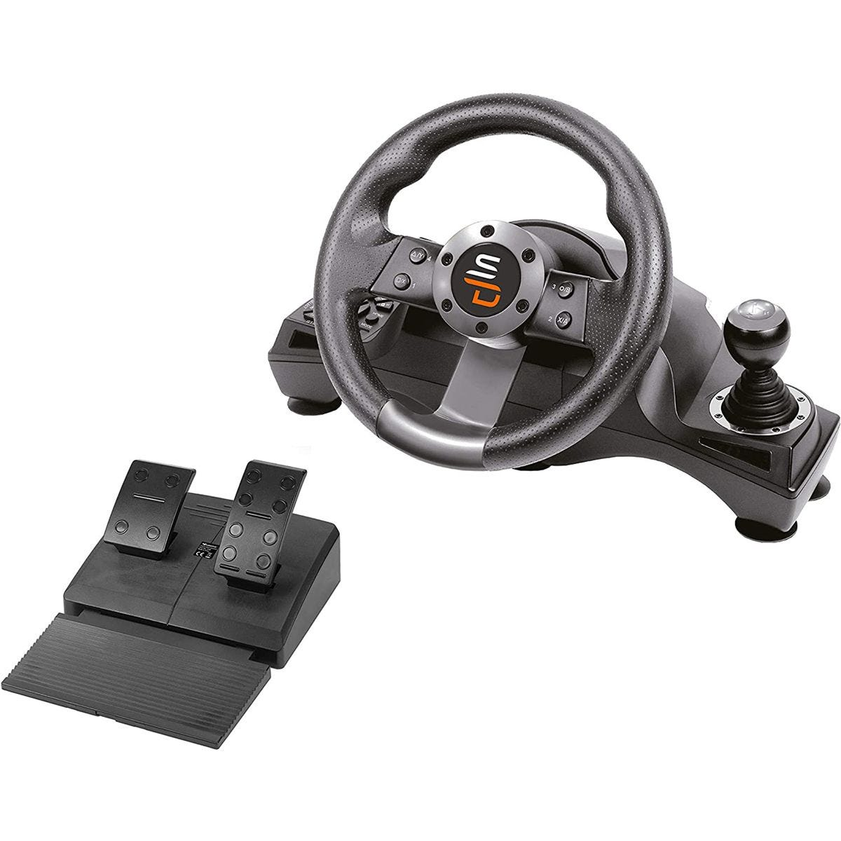Superdrive GS700 Drive Pro High-end Steering Wheel with Gearshift & Crankset for PS4, XBOX ONE, PC & PS3 - Black