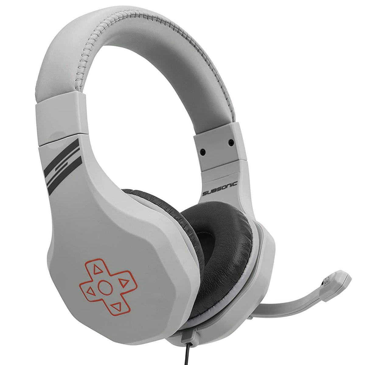 Subsonic Retro Gaming Headset with Microphone - Grey