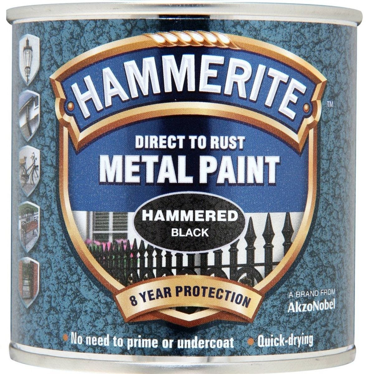 Hammerite Direct to Rust Metal Paint 250ml - Black