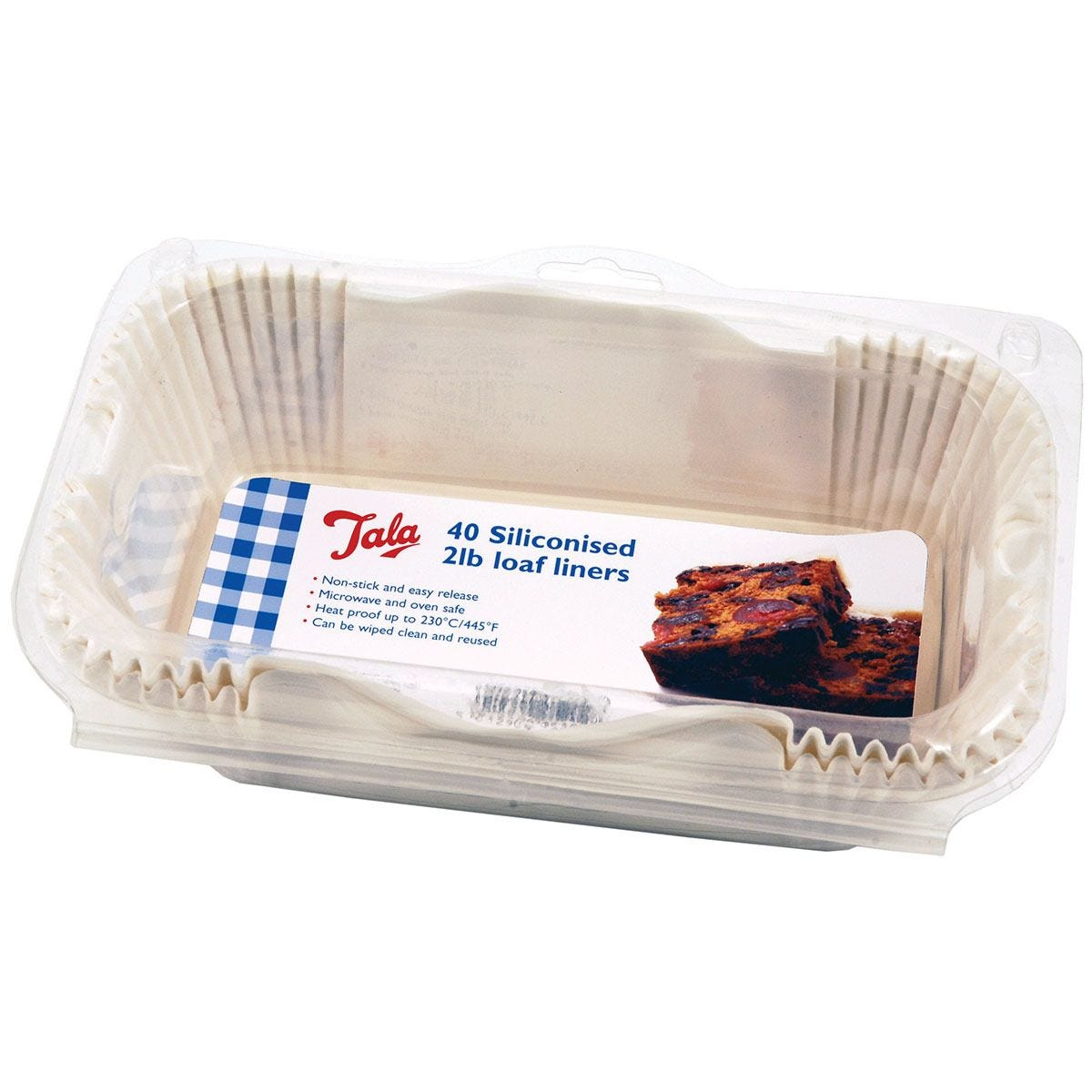 Tala Siliconised 2lb Loaf Liners - Set of 40