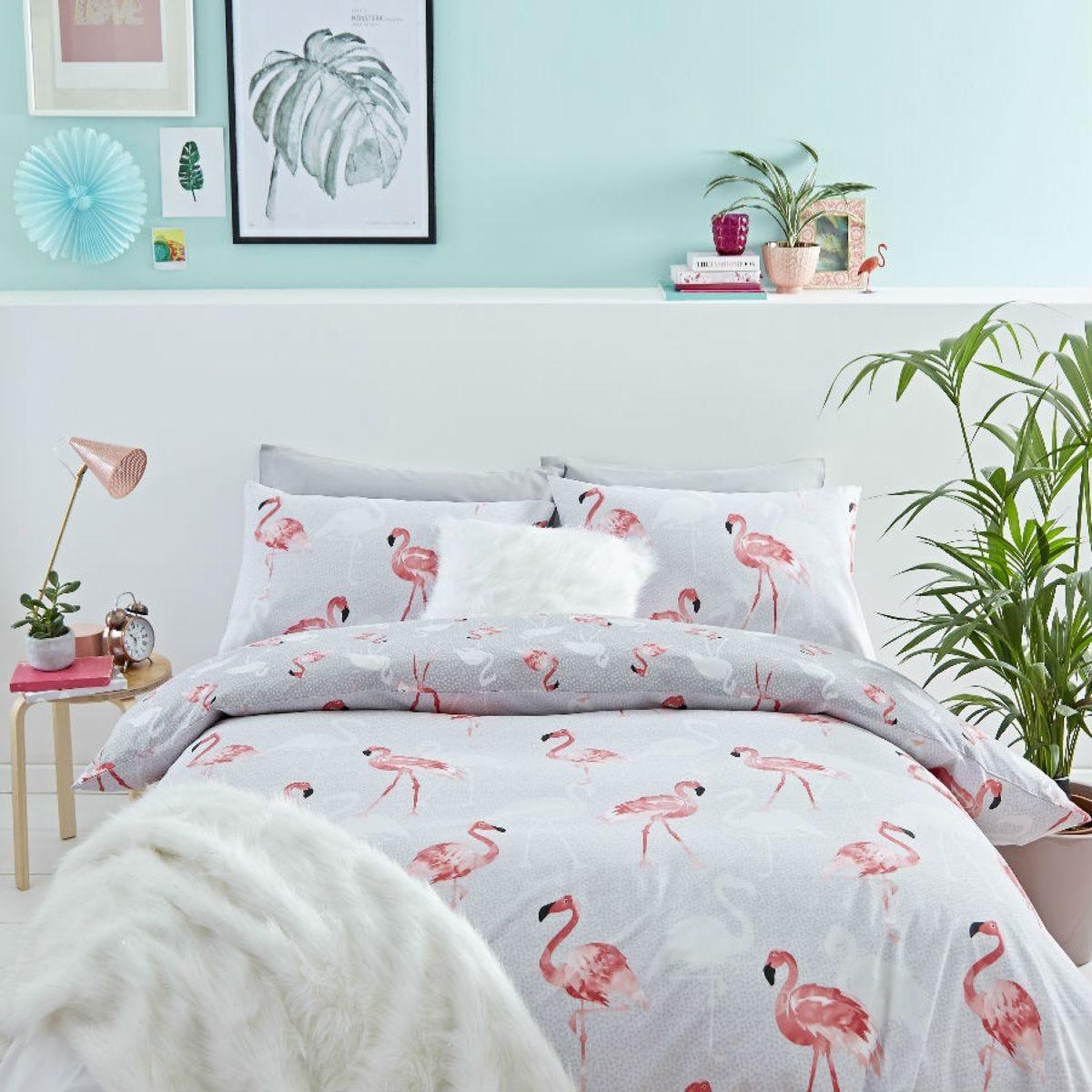 Catherine Lansfield Flamingo Duvet Set